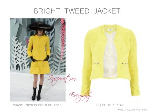 Bright Tweed Jacket Chanel Couture Spring 2015 Inspiration