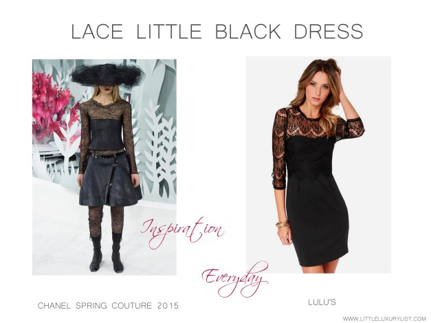 Lace little black dress Chanel Couture 2015 inspiration