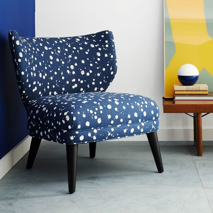 Retro Wing Chair - Kate Spade Saturday Splatter Print