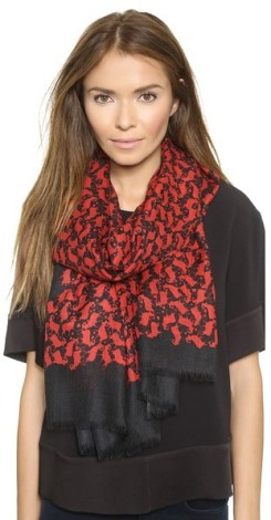 DVF Chinese New Year Cashmere Kenley Scarf