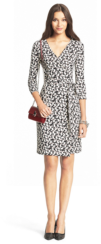 DVF Chinese New Year Julian Two Silk Jersey wrap dress