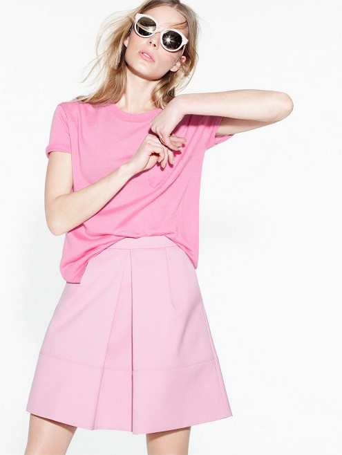 J Crew Spring 2015 pink outfit