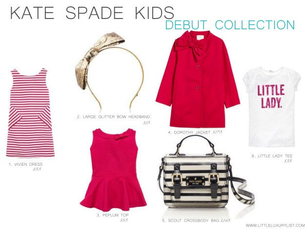 Kate Spade Kids Debut collection by little luxury list