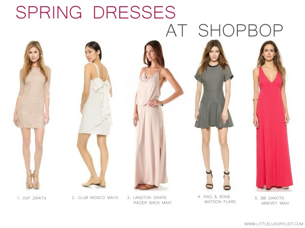 Shopbop spring dresses by little luxury list
