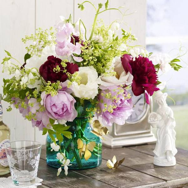 Peonies floral table centerpiece ideas little luxury list