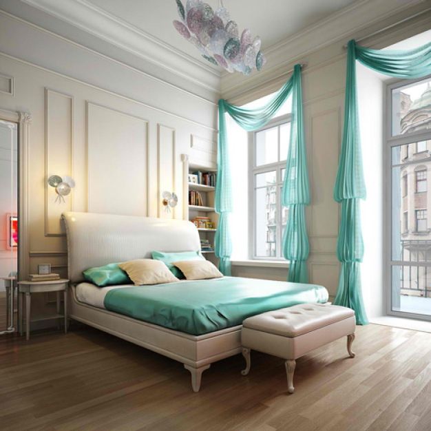 Aqua-Master-Bedroom-Ideas Dwell Beautiful - saved by little luxury list