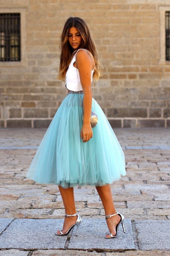 Aqua tulle skirt via Pinterest