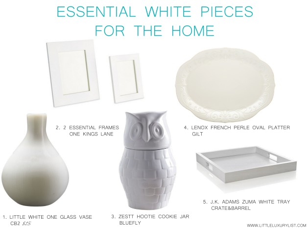 Essential white pieces for the home by little luxury list