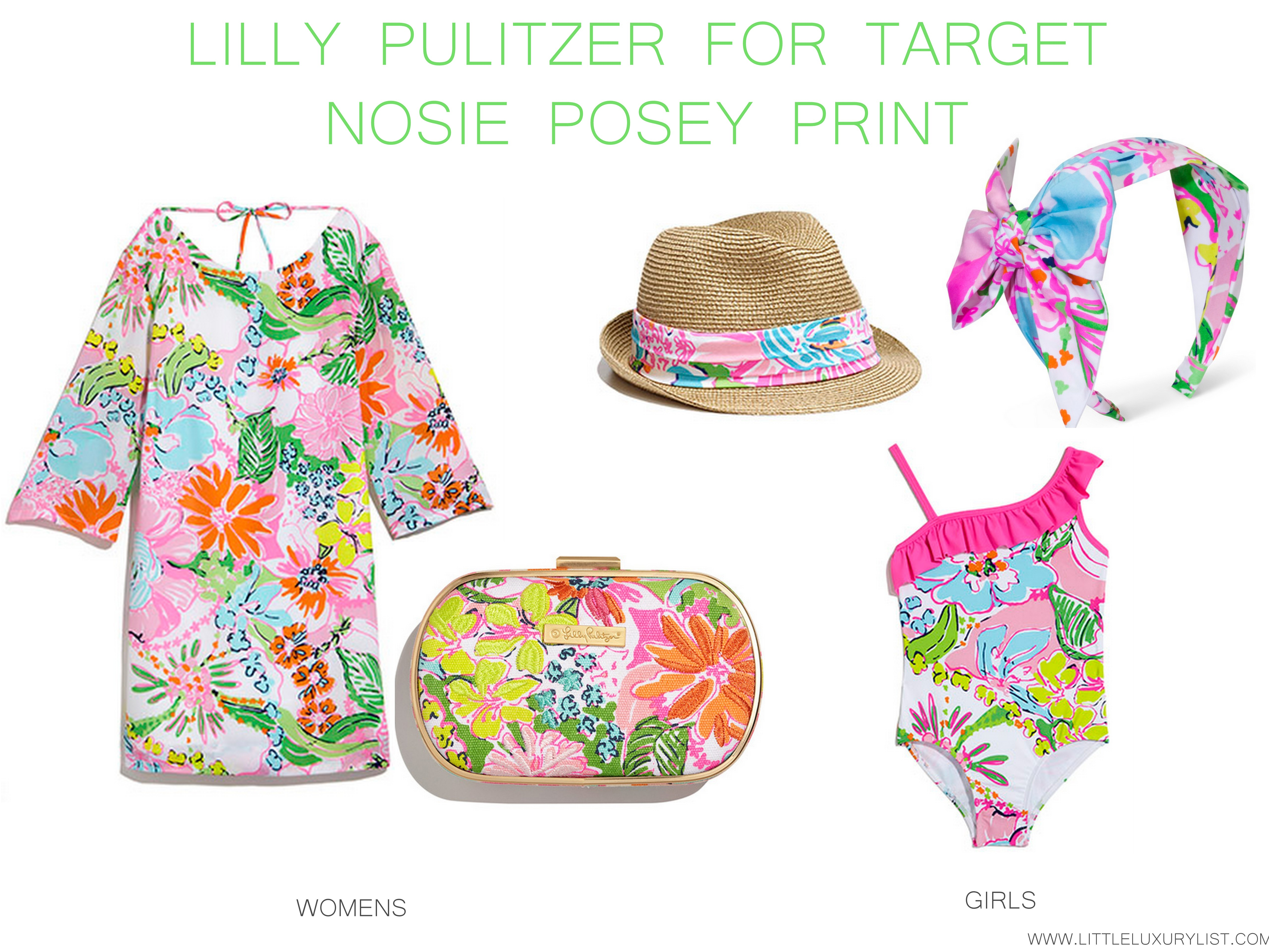 Lilly Pulitzer for Tar Sea nosie posey print little luxury list