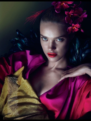 Pink red W Magazine March 2013 with Natalia Vodianova - saved by little luxury list