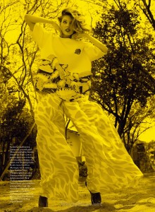 Ray of Light Jenna Castilloux in Opening Ceremony top for Elle_Canada_May 2015