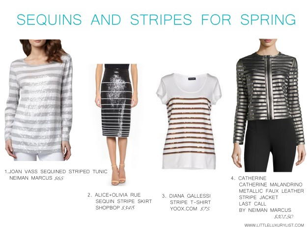 Sequins and stripes for spring by little luxury list