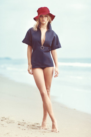 Summer Anna Ewer blue romper Harpers Bazaar May 2015