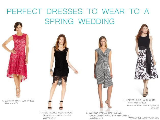 Perfect dresses to wear to a spring wedding