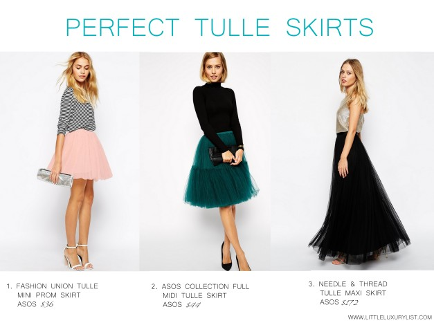 Perfect tulle skirts by little luxury list