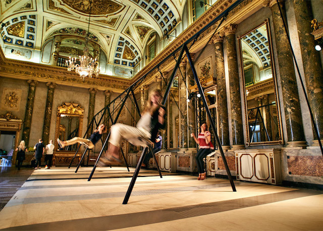 Swing-Set-Installation-in-Grand-Milanese-Palazzo-0