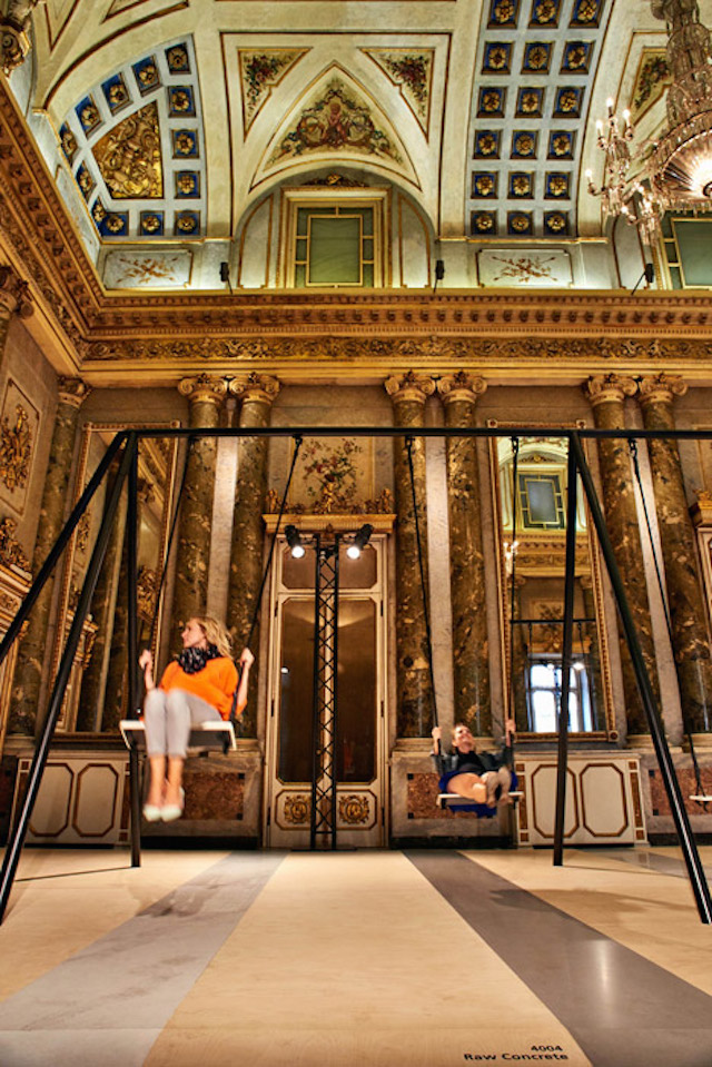 Swing-Set-Installation-in-Grand-Milanese-Palazzo-4