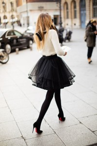 Tulle skirt from whowhatwear.com