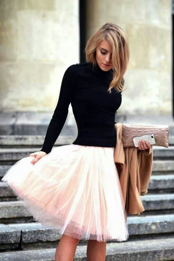 beige tulle skirt from fashionsy.com