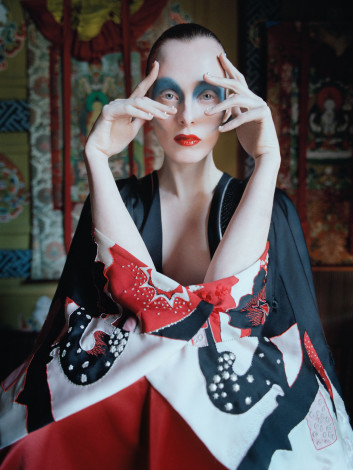 In the Land of Dreamy Dreams Karen Elson Alexander McQueen outfit shot by Tim Walker for UK Vogue May 2015