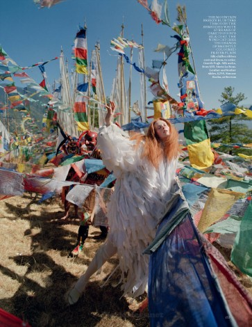 In the Land of Dreamy Dreams Karen Elson Gareth Pugh white gown for UK Vogue May 2015