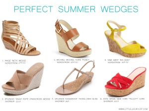 Perfect summer wedges by little luxury list