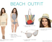 Beach outfit by little luxury list