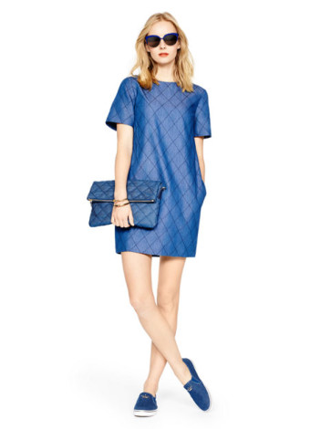 Kate Spade Quilted chambray shift dress