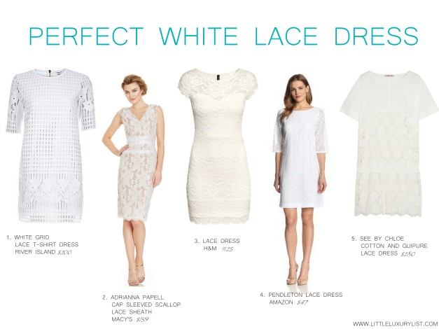 Perfect white lace dresses by little luxury list