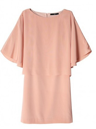 Tibi silk cape dress
