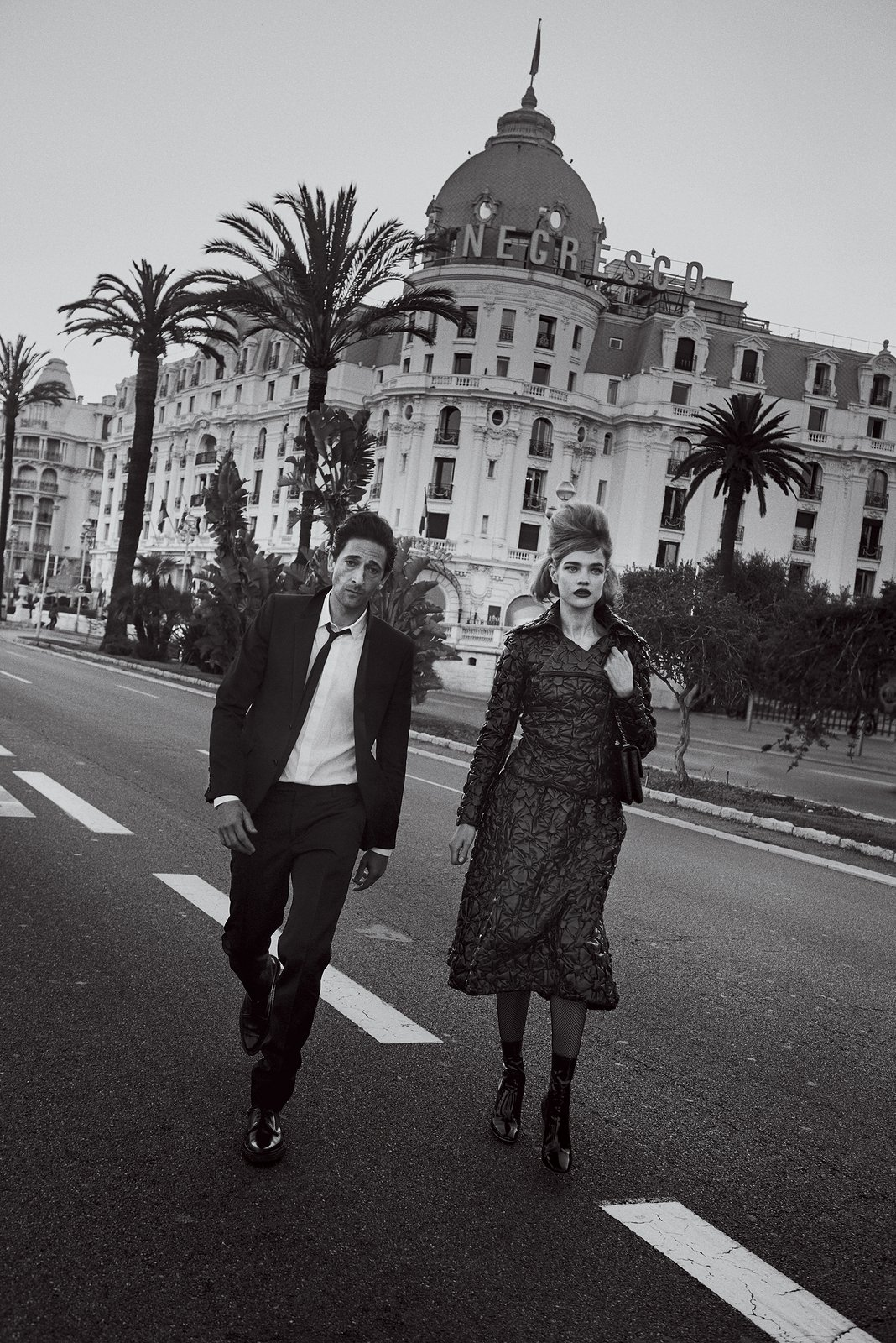 adrien-brody-natalia-vodianova-vogue July 2015 Chanel suit