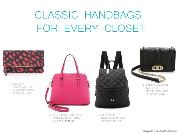 Classic handbags for every closet