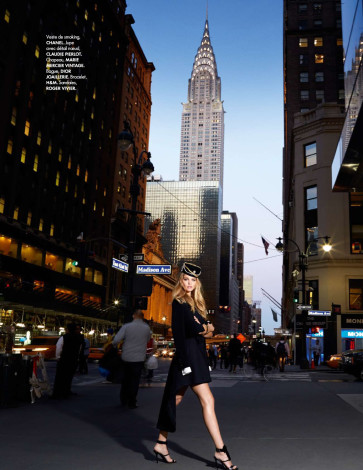NYC Elle Germany June 2015 Marloes Horst By Arthur Elgort in Chanel smoking vest