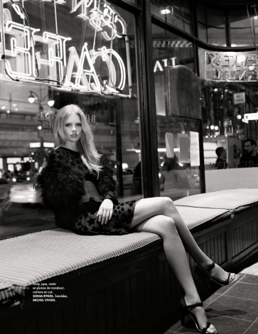 NYC Elle Germany June 2015 Marloes Horst By Arthur Elgort in Sonia Rykiel dress