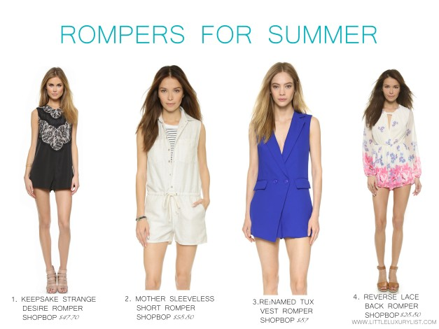 Rompers for summer by little luxury list