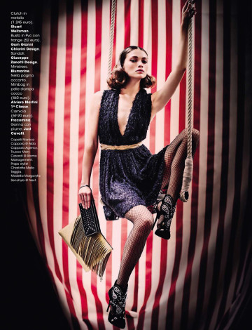 Margaryta Senchylo Glamour Italia September 2015 Giuseppe Zanotti dress