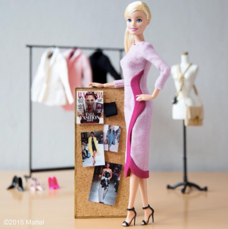 Barbie in Rokanda Ilincic dress and GIanvito Rossi shoes