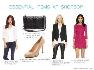Essential items at Shopbop by little luxury list
