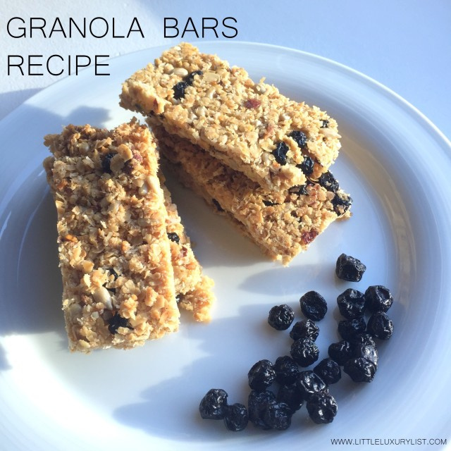 Granola bars by little luxury list