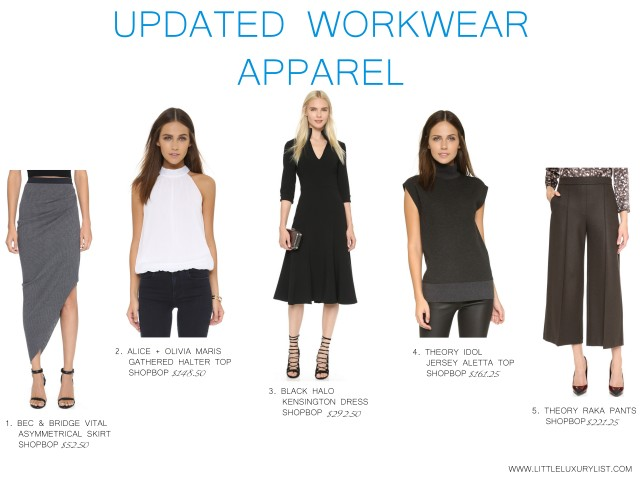 Updated workwear apparel by little luxury list