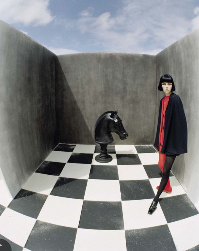 Checkmate Armani top Tim Walker for Vogue Italia December 2015