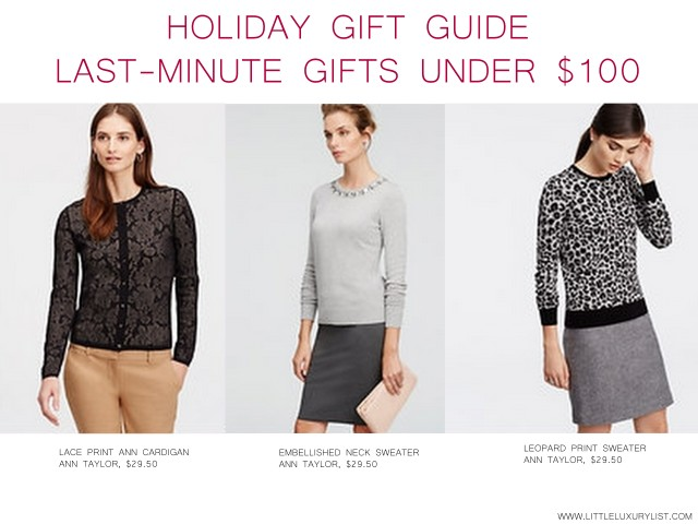 Holiday Gift Guide Last Minute Gifts Clothing by little luxury list