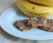 In the Kitchen: Gluten-free Sugar-free Banana Oatmeal Cookies {recipe}