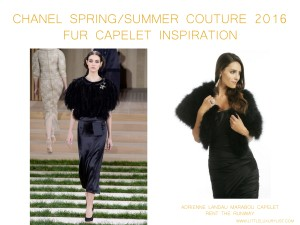 Chanel Spring Summer Couture 2016 fur capelet inspiration by little luxury list