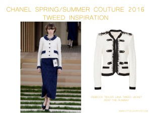 Chanel Spring Summer Couture 2016 tweed inspiration by little luxury list
