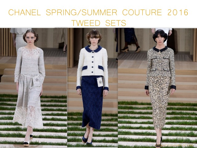 Chanel Spring Summer Couture 2016 tweed sets by little luxury list