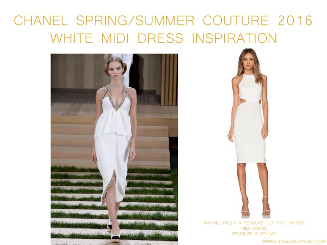 Chanel Spring Summer Couture 2016 white midi gown inspiration by little luxury list