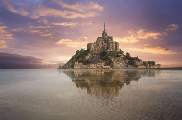 disneyreallocations1- real Tangled – Mont Saint-Michel, Normandy, France.