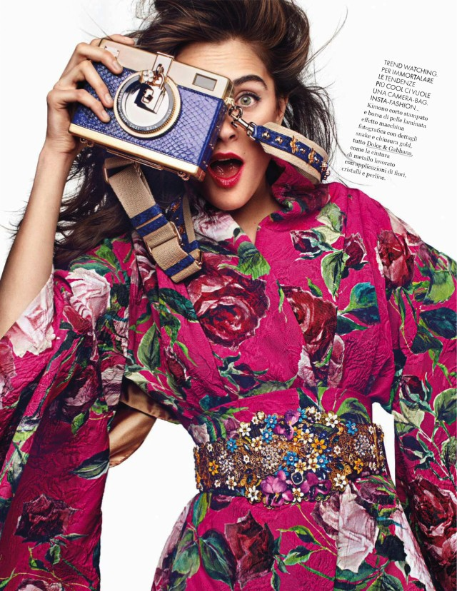 Elle Italia February 2016 by Alexey Hay Dolce & Gabbana floral top