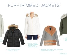 Fashion Highlight: Fur trimmed jackets